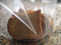 Biscottes in the ziploc