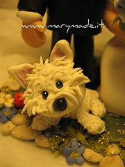 Cake topper - Little cutie (marytempesta) Tags: dogs polymerclay caketoppers weddingcaketopper