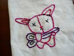 Bunny Finished (Epheriell) Tags: cute art design handmade embroidery australia brisbane handcrafted embroider epheriell jessicavanden