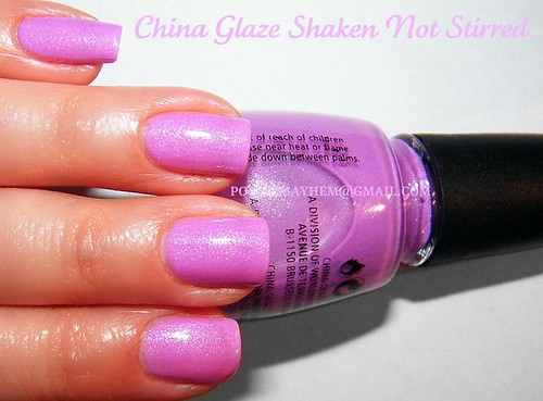 China Glaze Shaken Not Stirred