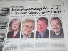 Stadtspiegel: Abstimmung OB Bochum