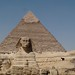 Sphinx with Khafre Pyramid in back