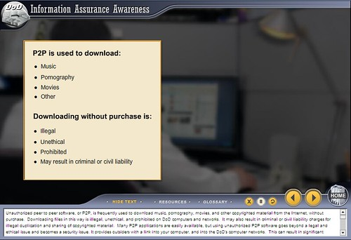 US Gov't Briefing For All Employees: All Music Downloads Are