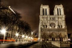 Notre Dame (J. A. Alcaide) Tags: light paris luz architecture night buildings noche arquitectura edificios notredame francia colorphotoaward