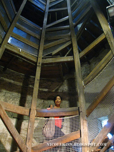 jerine climbing the shot tower