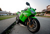 Fun with 10-22mm (PoweredByAloe) Tags: green ninja limegreen 2006 motorcycle sportbike lime 06 kawasaki 1022 zx6r 636 ninja636 kawi