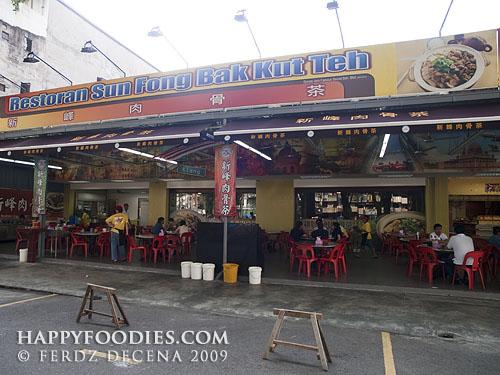 The Sun Fong Restaurant facade at Imbi