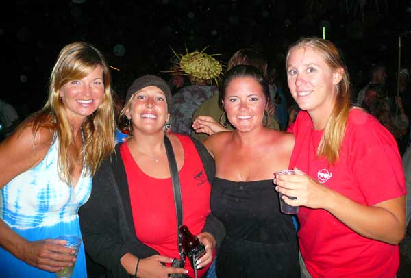 Elizabeth, Devyn, me, and Carlee at the Full Moon Party