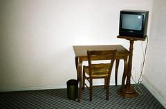 TV (st4gioni) Tags: wood television trash chair desk room bin