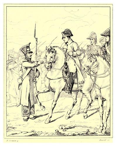 020-Un soldado excusandose de la recluta ante Napoleon campaña de 1814-The Napoleon gallery 1846