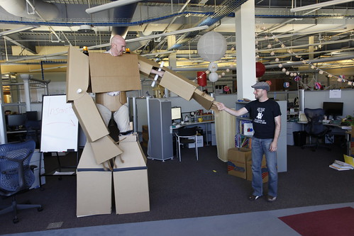 Cardboard Suit in the Office 25