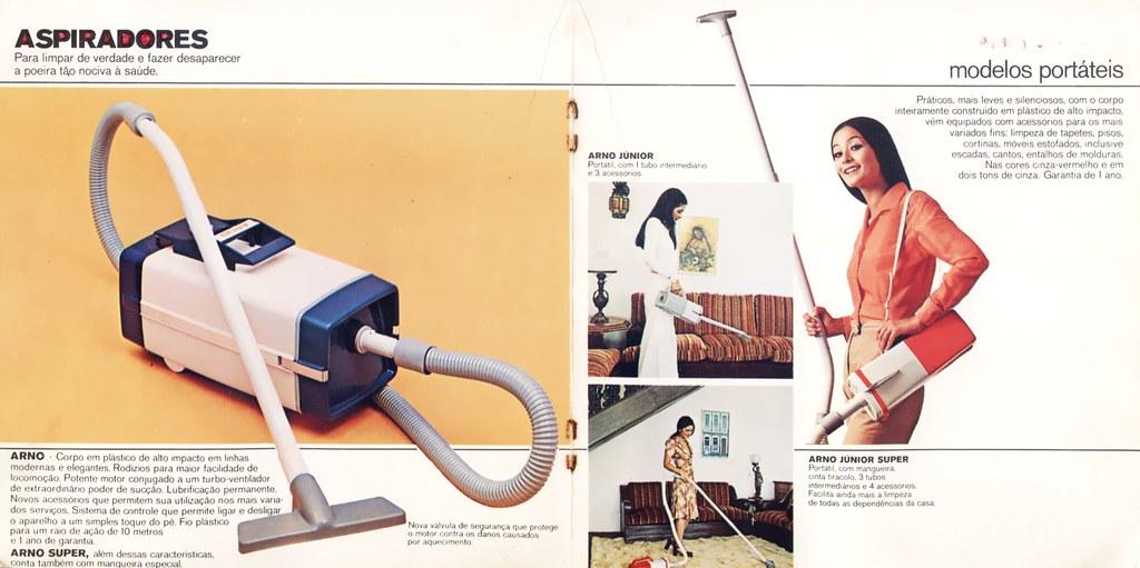 70's Arno catalog 6 - vacuum cleaners