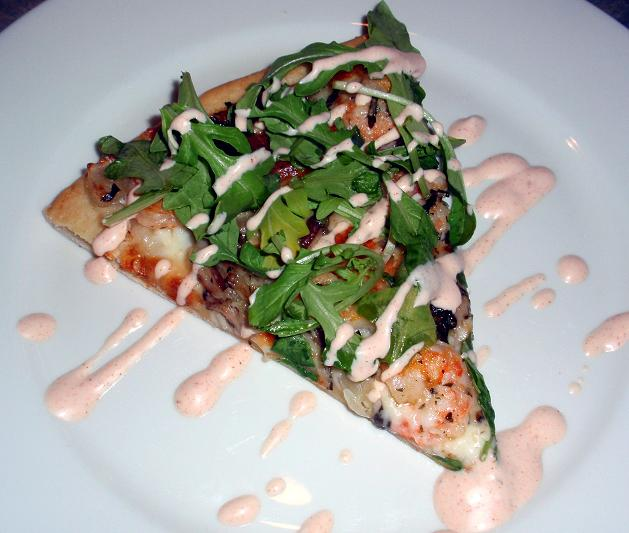 shrimp flatbread pizza