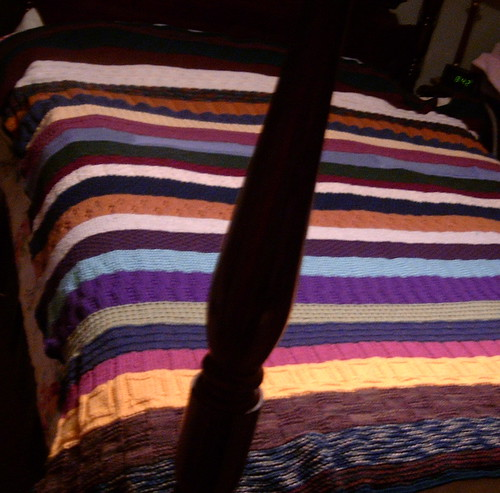 Oddball Blanket #5 Complete - On Bed