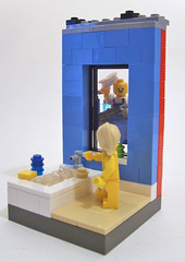 Murray the window washer has trouble making friends. (S.L.Y) Tags: window lego tub nudity washer