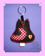 chaveiro gatinho preto c rabinho em cor (Bete Weber - Me Coruja) Tags: gatinho chaveiro pingente