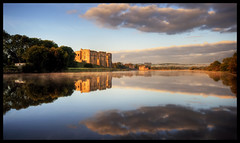On Reflection...... (-terry-) Tags: light sky cloud reflection castle wales sunrise dawn flickr explore pembrokeshire carewcastle carew flickrexplore seeninexplore