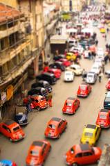 [フリー画像] [人工風景] [街の風景] [自動車] [ティルト・シフト]  [イタリア風景]      [フリー素材]
