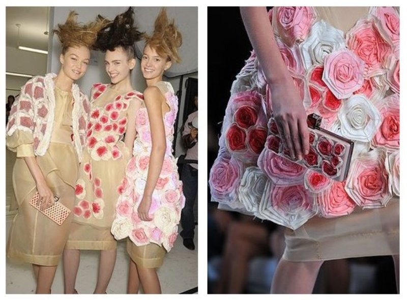 Fendi fabric roses dress inspiration