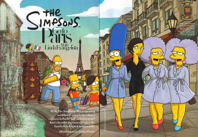 the-simpsons-go-to-paris-harper's-bazaar-aug07