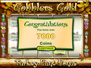 free Gobblers Gold slot bonus feature
