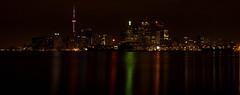 Toronto Skyline (KPEP) Tags: longexposure toronto skyline night cntower olympus lakeontario photoshopelements e520 kpep polsonstreetpier kpepphotography kevinpepper httpwwwkpepphotographycomkpepblog