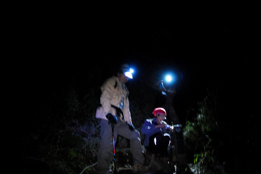 半夜登北峰