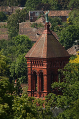 Tower of All Saints House (formerly All Saints Parish Church), Petersham (Copyright Dave Halley 2009) (Dave Halley) Tags: pictures uk roof england building brick tower english church statue architecture dave buildings religious photography photo worship all image photos britain united bricks religion great towers masonry picture saints churches kingdom arches images surrey architectural christian roofs holy photographs tiles photograph british christianity 2009 southwark petersham brickwork halley chuches diocese richmonduponthames