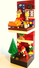 He Knows When You Are Sleeping? (Dave Shaddix) Tags: santa christmas lego vignette