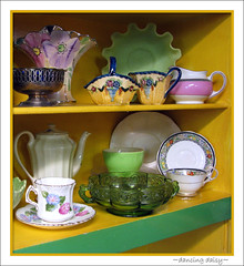 coloured cupboard (~dancing daisy~) Tags: vintagetreasures ~dancingdaisy~ attheantiqueshop