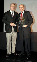 Dr. Nick Holekamp and Tom Minogue accepting Top 50 Award