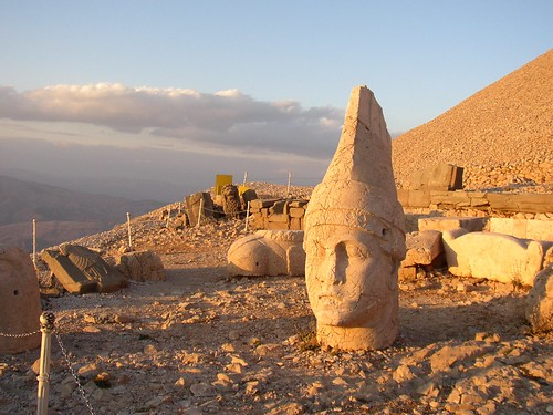 Mt Nemrut at Sunset - West