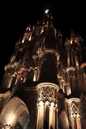 Iglesia de San Miguel de Allende de Noche