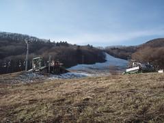 オープン予定日前日の藻岩山スキー場