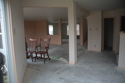 Looking out from the Dining Room Before.