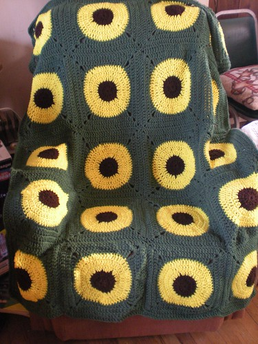 sunflower afghan1