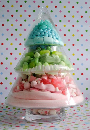 Candy Christmas tree jar