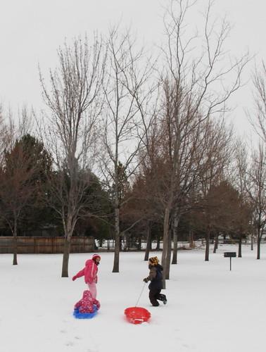 Snow fun at the park