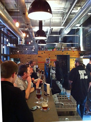 Bar inside Brewdog, Edinburgh