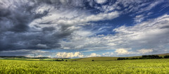 Weather Dynamics (Didenze) Tags: travel panorama painterly texture field weather clouds rural landscape dynamic wheat hills bulgaria didenze