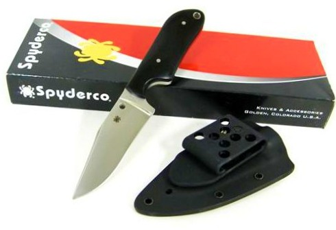 "Spyderco Fred Perrin Street Beat Fixed 3.5"" VG10 Blade, Micarta Handles"