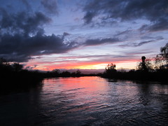 Sunset on the Tuolumne River