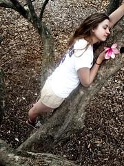 peaceful. (laurenashleigh.) Tags: flower tree girl climbing converse