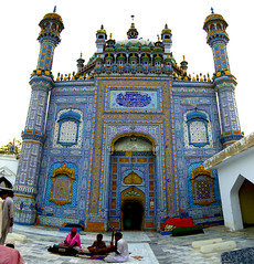 Sachal is all truth. (Explored). (Commoner28th) Tags: blue pakistan musician music saint architecture sharif design pattern folk poet classical ahmed sufi kashi sindh mystic islamic agha sachal waseem commoner khairpur sarmast ranipur commoner28th daraza