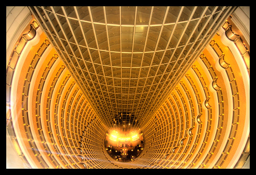 Inside the Jinmao tower