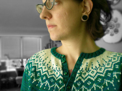 finished cardigan