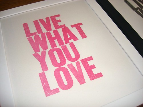 LIVE WHAT YOU LOVE pink