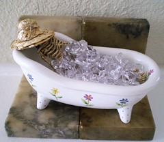 Coolin' Off and Cleanin' Up (Enchanticals ~I'm Coming Back) Tags: pink hot ice halloween smile hat smiling dead skeleton skull miniatures miniature bath teeth relaxing hats cleaning spooky clean wash fantasy heat bones icecubes undead bathtub bone etsy bathing secretlifeoftoys washing serial whimsical coolingoff oneinchscale 112scale 112thscale onetwelfthscale etsyteams faeteam scaledollhouseminiature enchanticals miniaturedollhousescale enchanticalsetsy funwithinanimateobjects