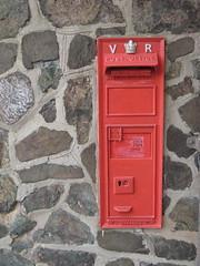 Victorian Letterbox (Katie-Rose) Tags: uk red wall postoffice platform victorian postbox worcestershire letterbox vr katierose blockedup canonpowershota700 malvernstation platinumphoto malvernstone