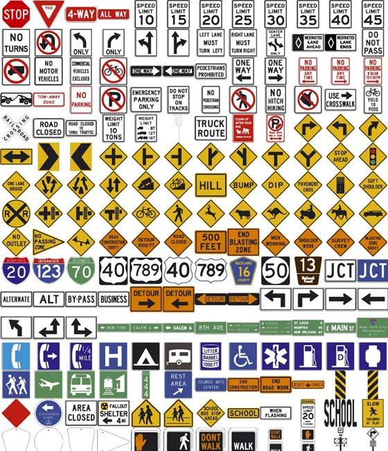 Señales de trafico vectorizadas